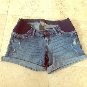 Indigo Blue maternity jean shorts XS